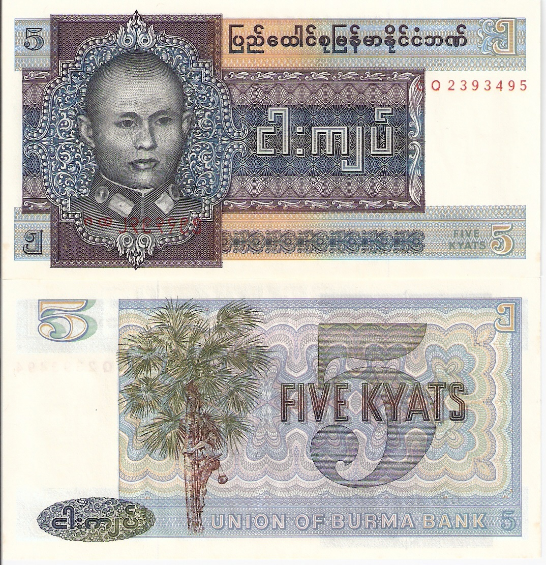 Which asian country is kyat the official