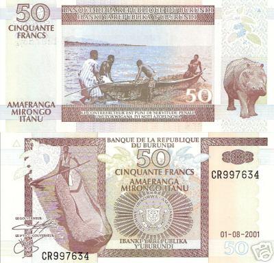 50 Francs  UNC Banknote