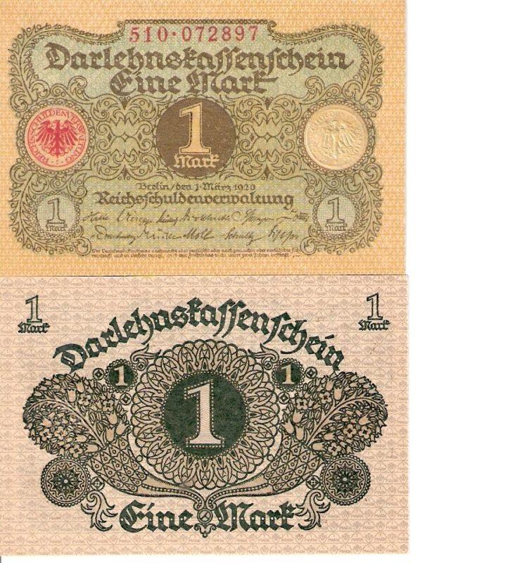 GERMANY 1 Mark Banknote World Currency Money BILL 1920 ...  GERMANY 1 Mark ...