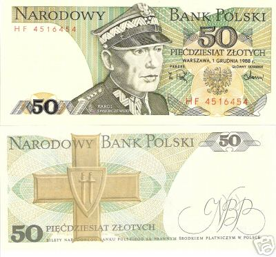50 Zlotych  UNC Banknote