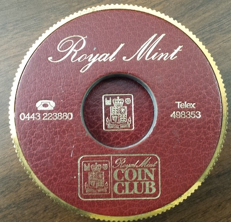 Royal Mint Advertising Paperweight   Banknote