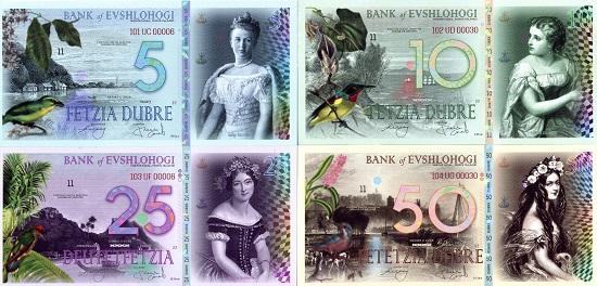500 sets issued Set 5;10;25;50 Dubre UNC Evshlohogi POLYMER 2018