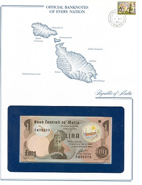 1 Lira  UNC (looks UNC) envelope has wear Banknote
