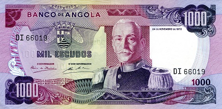 1,000 Escudos  aUNC/XF (see scan) Banknote