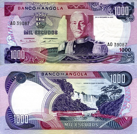 1,000 Escudos  VF (see scan) Banknote