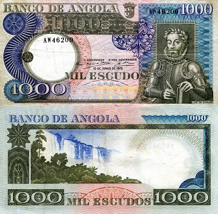 1,000 Escudos  VF (see large scan) Banknote