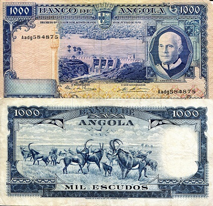 1,000 Escudos  F (see large scan) Banknote