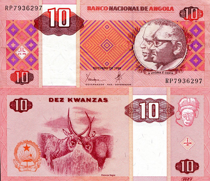 10 Kwanza  XF/VF (see scan) Banknote