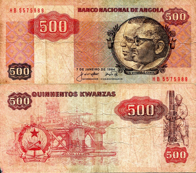 500 Kwanzas  VG (see scan) Banknote