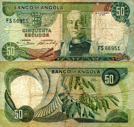 50 Escudos  VG (see large scan) Banknote