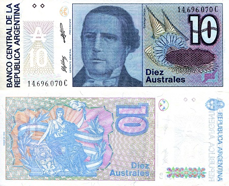 10 Australes  aUNC/XF (see large scan) Banknote