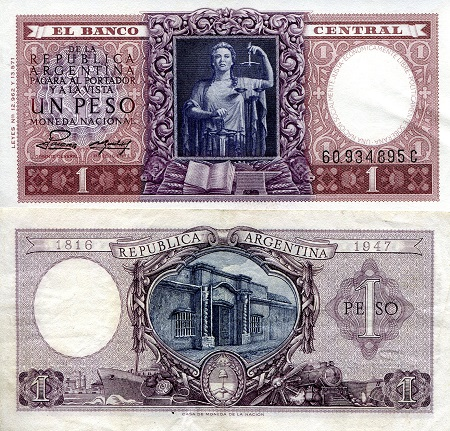 1 Peso  XF/VF (See scan) Banknote