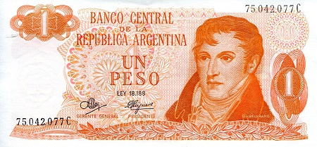 1 Peso  aUNC/XF (see scan) Banknote