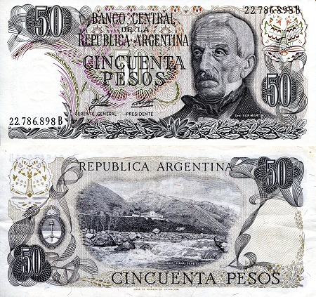 50 Pesos  aUNC/XF (see large scan) Banknote