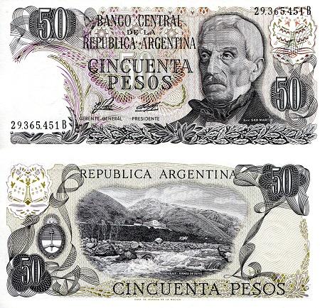 Calendario 1976 Argentina.South American Banknotes