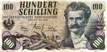 100 Schilling  F (see large scan) Banknote