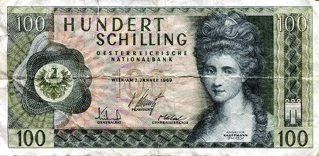 100 Schilling  VG (see large scan) tear Banknote