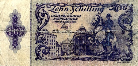 10  Schilling  VG (see large scan) Banknote
