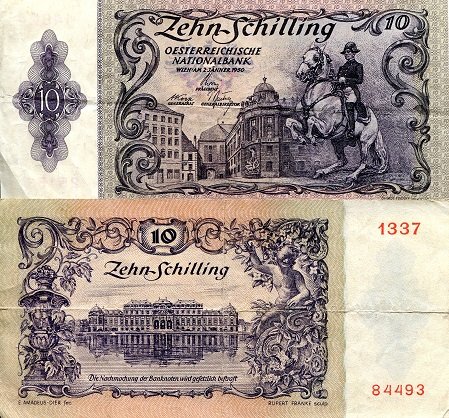 10  Schilling  F (see large scan) Banknote