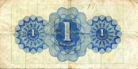 1 Schilling  VG (see large scan) Banknote