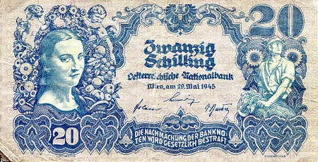 20  Schilling  VG (see large scan) Banknote