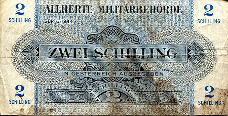 2 Schilling  VG/G (see large scan) Banknote