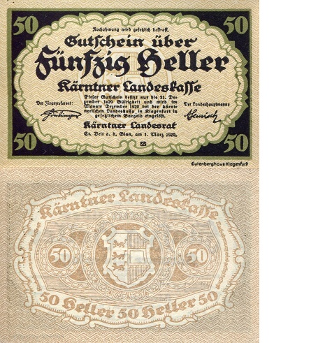 AUSTRIA 50 Heller Banknote World Money Currency Bill 1920 ...  AUSTRIA 50 Hell...