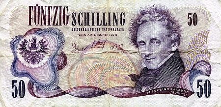 50 Schilling  VG (see large scan) Banknote