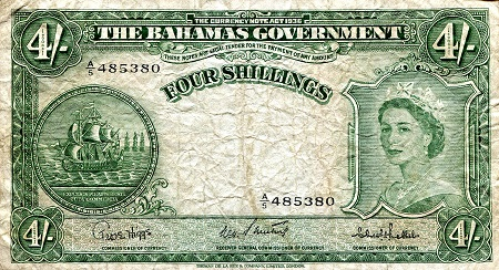 4 Shillings  F/VG (see scan) Banknote