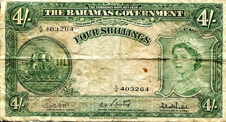 4 Shillings  VG (see scan) Banknote