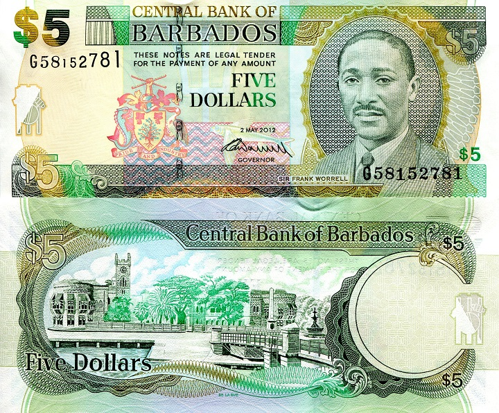 5 Dollars  UNC (Capping at Security strip) Banknote