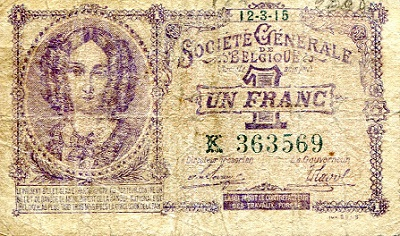 1 Franc  VG/G (see scan) Banknote