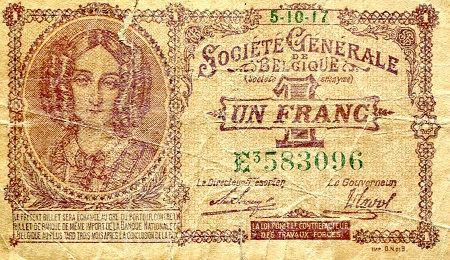 1 Franc  G (see scan) Few tears Banknote