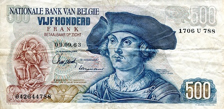 500 Francs  F/VG (see scan) Banknote