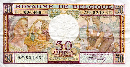 50 Francs  VF/F (see large scan) Banknote