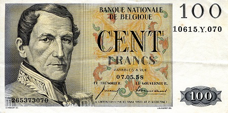 100 Francs  XF/VF (see scan) Banknote