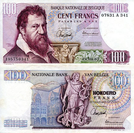 100 Francs  VF/F (see large scan) Banknote