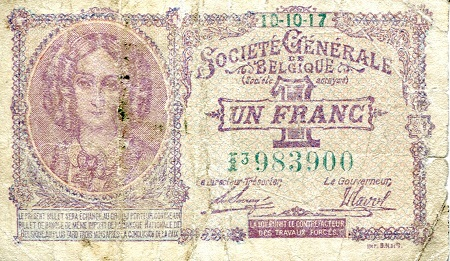 1 Franc  G (see scan) Banknote