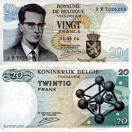 20 Francs  VF (see larger scan) Banknote