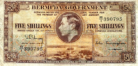 5 Shillings  VF/F  Banknote