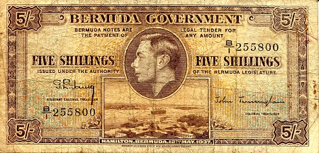 5 Shillings  VG (see large scan) Banknote