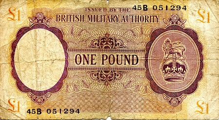 1 Pound  VG/Poor (see scan) Banknote