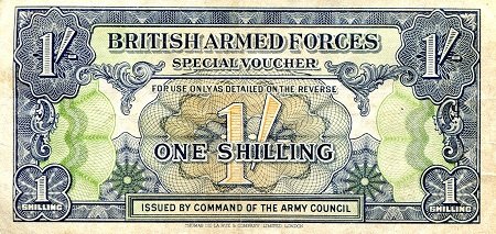 1 shilling  VF/F (see large scan) Banknote