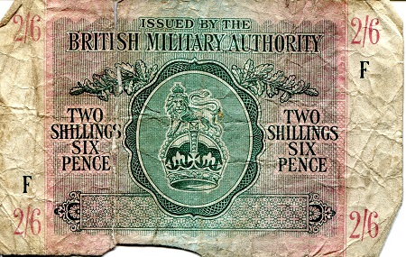 2 and 6 Shillings and Pence  Poor (see scan) Banknote