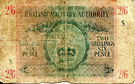 2 and 6 Shillings and Pence  VG/Poor (see scan) Banknote