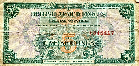 5 shillings  F/VG (see large scan) Banknote