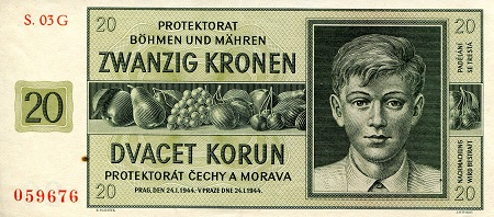20 Kronen  XF (see large scan) Banknote
