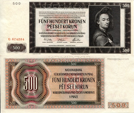 500 Kronen  XF (see large scan) Banknote