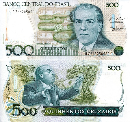 Roberts World Money Store and More - Brazil Cruzado, Cruzeiro and Real Banknotes