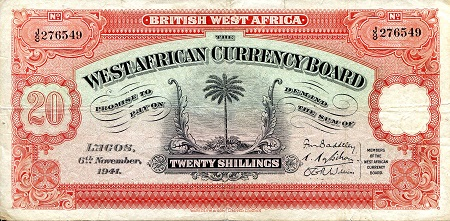 20 Shillings  F Banknote